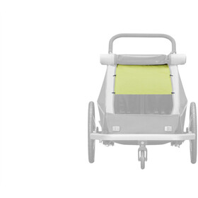 Croozer Sonnenschutz für Kid Plus / Kid for 2 Kinder lemon green